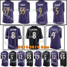 Baltimore 8 Lamar Jackson Men s Raven Jersey 9 Justin Tucker 81 Hayden  Hurst 5 Joe Flacco 55 Terrell Suggs 57 C.J. Mosley Jerseys 7cc427c69