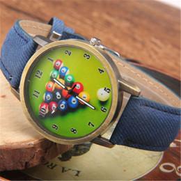 Venta al por mayor de Nueva llegada Casual Estilo retro Hombres y mujeres Relojes de cuarzo Billar Dial Relojes unisex Reloj deportivo Reloj deportivo