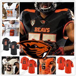 $enCountryForm.capitalKeyWord Australia - Custom Oregon State Beavers Any Name Number Black White Orange Stitched #8 Trevon Bradford 81 Noah Togiai 2019 NCAA Football Jersey