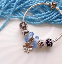 219afdb4e Luxury Woman Bracelet 925 Sterling Silver Beaded Pendant DIY Bracelet  Summer New Designer Bracelet Women Jewelry