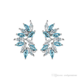 $enCountryForm.capitalKeyWord UK - 90% off 6 Pairs   Lot Newest Holiday Gift Jewelry stylish Blue Topaz Gemstone Stud Ear 925 Sterling Silver Plated USA Stud Wedding Earrings