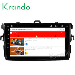 """Car Audio Stereo Touch Screen Australia - Krando Android 8.1 10.1"""" IPS Big Screen Full touch car DVD navigation system for TOYOTA Corolla 2007-2012 audio player gps BT wifi"""