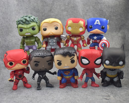 pop figure funko Canada - Hot toys FUNKO POP 9 styles DC Justice action figures League & Marvel Avengers Super Hero Characters Model Vinyl Action Toy