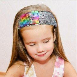 $enCountryForm.capitalKeyWord Australia - Hot Girls Sequins Headband Mermaid Flip Baby Sequin Headband Double-sided Flip Color Sequins Hair Band Headband for Girls Hair Accessories