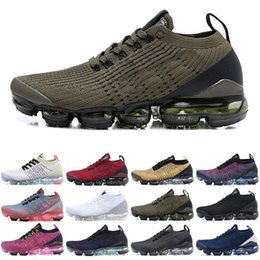 $enCountryForm.capitalKeyWord NZ - 2019 Best TN Running Shoes Mens 2018 New Fly V1 V2 3.0 Knit Triple Black White Designer Shoes Be True Mesh 36-45