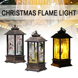 beautiful christmas lights trees 2020 - Flame Light Street Lamp Christmas Santa Claus Candlestick Plastic Creative Beautiful Home Decoration Gift Hanging Party