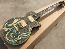 Body Figures Australia - Classic Chinese Dragon Figure Electric Guitar, Mahogany Fingerboard, High Quality, Custom Offer