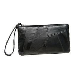 $enCountryForm.capitalKeyWord UK - Sheepskin handbag New Zero Wallet Stitching leather and dermis handbag Ultra-thin mobile bag Women's Wallet with Explosives Ladies'Short Car