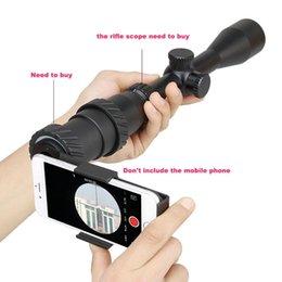 40 MM-43 MM Alüminyum Adaptörü Monoküler Alaşım Cep Telefonu Siyah Rile Kapsam Teleskop Dağı Ile Tüm Telefon Için kamera Ile Optik
