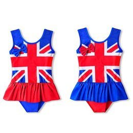 Flag swimming online shopping - Girls One Piece Swimsuit Bow Stripe Sleeveless Flag Print Swimsuit American Flag Independence National Day USA th July Lotus Leaf Swim