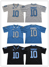 062d7a6ec 2019 Men Tar Heels #10 Mitch Trubisky Black blue white stitched North  Carolina College football jerseys Cheap New Style