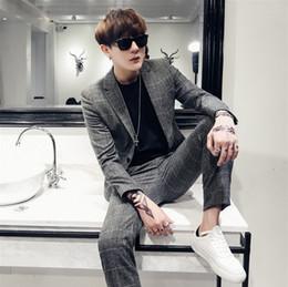 $enCountryForm.capitalKeyWord Australia - custom Suit set men Korean version skinny handsome British youth casual suit nightclub trend to work wedding dress