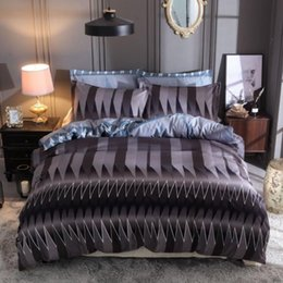 King Bars NZ - BEST.WENSD High-quality hot 3d Abstract geometric graph bedding Vertical bar duvet cover set comforter full king bed spreads set
