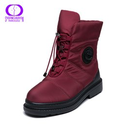 6a66fd5a283 2019 AIMEIGAO High Quality Warm Fur Snow Boots Women Plush Insole  Waterproof Boots Platform Heels Red Black Winter Women Boots