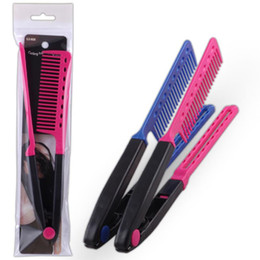 $enCountryForm.capitalKeyWord Australia - New Design V-Shaped Professional Beauty Styling Comb Clip-on Hair Straightener Hair Brush Styling Tools Fast Shipping F3435