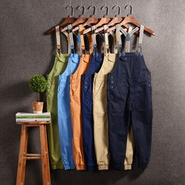 $enCountryForm.capitalKeyWord Australia - Candy Japan Style Beam foot Mens Joggers Pants Casual Hiphop Male Suspenders Pants Ankle-Length Man Bib Overalls Jumpsuits
