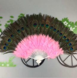 New Peacock Feather Fans 2019 Bomboniere Regali nuziali Carnevale fan di ballo Bomboniere 9 colori disponibili