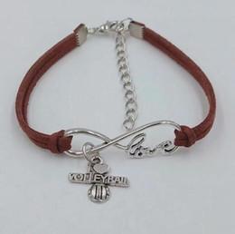 volleyball bracelets 2019 - Infinity Love 8 Bracelet I love volleyball Pendant Simple Bracelets & Bangles For Women Men Girl Boy Unisex Jewelry Gift