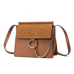Chinese  Pop Fashion Nubuck Leather Handbag Women Shoulder Bag High Quality Women Messenger Bag Ring Hasp Lady Crossbody manufacturers