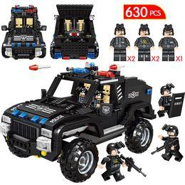 Police Block Australia - 630PCS Toys For Boys City Police Swat Car Truck Building Blocks Compatible Legoingly Technic Police Weapon Gun Figures Bricks