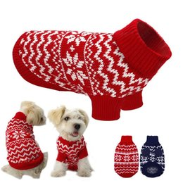 Wholesale Dog Cat Costume Sweater Comfortable Puppy Winter Clothes Small Medium Dog Turtleneck Knitwear Chihuahua Clothing Pet Supply