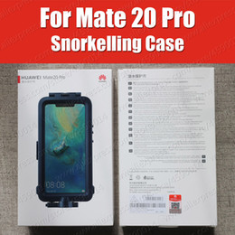 iphone shot NZ - Snorkelling Case For Huawei Mate 20 Pro diving Protector Case Waterproof Official Original Mate20 Pro Underwater shooting Cover
