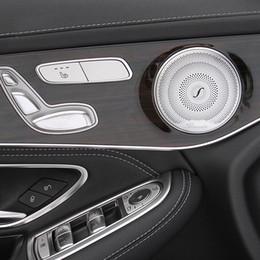 $enCountryForm.capitalKeyWord Australia - 4Pcs Set For Mercedes C E Class W205 W213 GLC 2015-2018 Year Berlin Voice Audio Sound Speaker Trim Cover Case Emblem Sticker