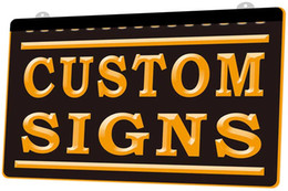 Venta al por mayor de Símbolo LS0002 Custom Signs Placa Nueva 3D de luz LED de grabado Personalizar bajo demanda color múltiple