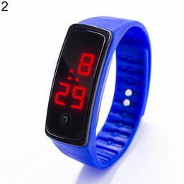 kids watch silicone bands NZ - Boy Girl Kids Fashion Sports Waterproof Silicone Band LED Digital Wrist Watch New