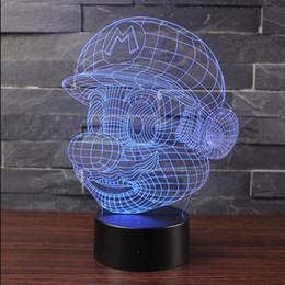 Figure Classics Australia - Classic Cartoon Game Figure for Super Mario 3D LED USB Lamp Acrylic Novelty Christmas Lighting Gift RGB Touch Controller Toys