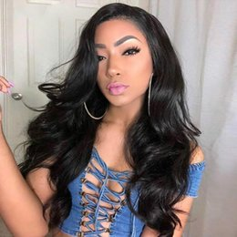 $enCountryForm.capitalKeyWord Australia - 150 Density Human Hair Full Lace Wigs Pre Plucked Remy Brazilian Body Wave Lacefront Wig For African American Women With Baby Hair