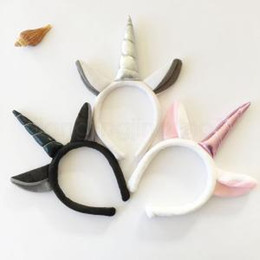 Fancy hair accessories online shopping - Horn Ear Unicorn Headband Animal Fancy Hair Band Headwear Halloween Kids Hair Accessories Birthday Colors Party Gift IIA190