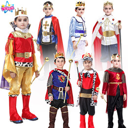 king costumes NZ - Holiday Cosplay kids man Prince Costume for Children The King Costumes Children's Day Boys Fantasia European royalty clothing