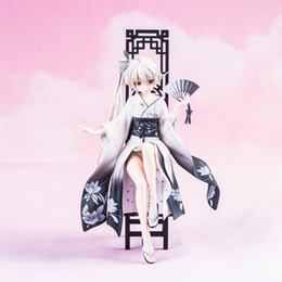 hot girls model NZ - Hot Sales 22cm Anime Girls Doll Kasugano Sora Kimono PVC Action Figure Collectible Model Adult Toys