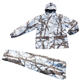 black line men suit 2019 - Winter Cold Weather Thicken Lining Fleece White Snow Bionic Camouflage Hunting Tactical Fishing Clothing Ghillie Suit Ja