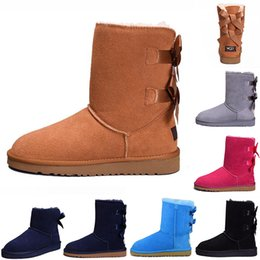 $enCountryForm.capitalKeyWord Australia - Hot Sale WGG classic Australia winter boots for women chestnut black blue pink designer snow fur boot womens ankle knee boots
