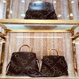 Body Bag sac online shopping - SAC MONTAIGNE GM MM BB Fashion Womens Business Tote Handbag Cross Body Shoulder Bag Top Handle Purse Iconic Brown Waterproof Canvas M41056