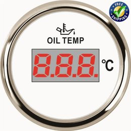 car meter gauges UK - Pack of 1 52mm Digital Oil Temp Gauges 50-150degree LCD Oil Temperature Meter 361~19ohm 9-32VDC with Red Backlight for Car Truck