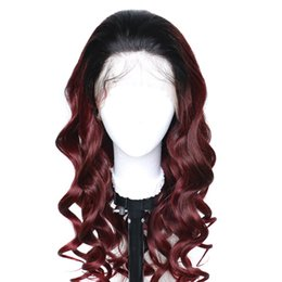Human Hair wig color 1b 99j online shopping - 1B J Ombre Lace Front Human Hair Wigs Body Wave For Black Women Peruvian Virgin Wine Red Burgundy Full Lacefront Wig j Colored