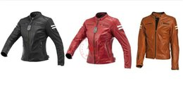 fashion leather suits Australia - High quality leather motorcycle jacket retro motorcycle fashion men and women heavy racing anti-fall riding suit