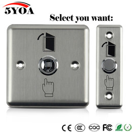 Stainless Steel Push Button Switches Australia - Stainless Steel Exit Button Push Switch Door Sensor Opener Release For Magnetic Lock Access Control Home Security Protection