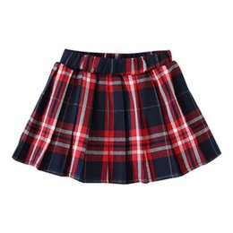 girls short pleated skirts UK - New Autumn Baby Girl Clothes Plaid Skirt Elastic Waist Short Tutu Skirts Casual Pleated Skirt for Baby Girl School Skirts #p