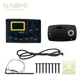 Discount equalizer tuner - NAOMI 4 Band EQ Equalizer KLT-3 Acoustic Guitar Bass EQ Preamp W  Micphone Tuner Guitar Pickup