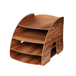 $enCountryForm.capitalKeyWord NZ - Large Desktop Drawer Storage Box Book Shelf Organizer For Kids Practical Wooden File Rack Office Supplies Commodity Shelf SH190709