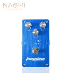 Wholesale NAOMI Effect Pedal Aroma ABS Blues Distortion Guitar Pedal Aluminum Alloy True Bypass Guitar Parts Accessories New