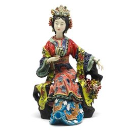 $enCountryForm.capitalKeyWord UK - Chinese Ceramic Dolls Fine Art Female Statue Sculpture Art Collections Angels Porcelain Collectible Home Decor Crafts