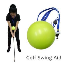 $enCountryForm.capitalKeyWord Australia - Golf Swing Trainer Inflatable Ball Golf Swing Trainer Aid Posture Correction Training Silicone Supplies