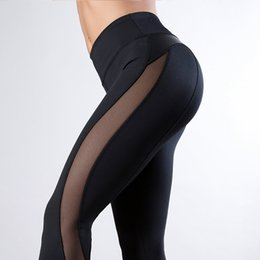 $enCountryForm.capitalKeyWord UK - Women leggings fashion ladies mesh push up yoga skinny pants PU Leather Patchwork workout yoga fitness Leggings