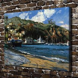 Figure Club Australia - Catalina Yach Club,Home Decor HD Printed Modern Art Painting on Canvas (Unframed Framed)