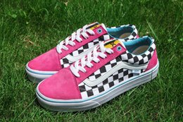ca0731e52c3a Best Quality VANES OLD SKOOL PRO S GOLF WANG ODD FUTURE Blue Pink White  VN000ZD4J7T Running shoes Sneakers With Original Box